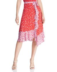 Parker - Collins Faux - Wrap Floral Skirt - Lyst