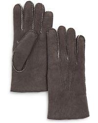 Bloomingdale's Three-cord Shearling Glove - Gray