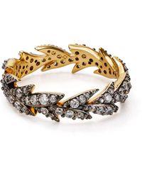 Nadri Liv Leaf Ring - Metallic