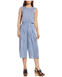 Two By Vince Camuto Abstract Print Jumpsuit - Blue