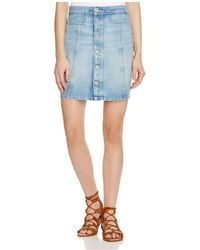 PAIGE Denim Bianca Denim Skirt In Ambroise - Blue