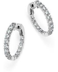 Bloomingdale's - Diamond Inside Out Hoop Earrings In 14k White Gold, 2.0 Ct. T.w. - Lyst