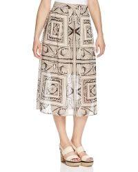 Finity - Geometric Print Midi Skirt - Lyst