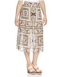 Finity | Geometric Print Midi Skirt | Lyst