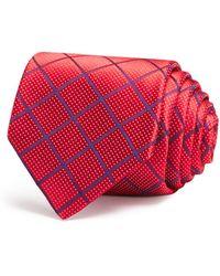 W.r.k. - Dobby Rope Check Classic Tie - Lyst