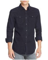BLK DNM | Denim Regular Fit Snap Front Shirt | Lyst