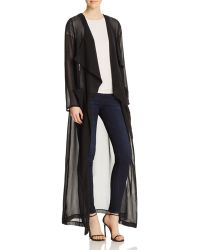 Oober Swank - Drape Front Maxi Duster - Compare At $98 - Lyst