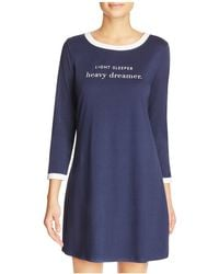 Kate Spade Light Sleeper Heavy Dreamer Nightgown - Blue