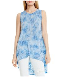 Two By Vince Camuto High/low Burnout Top - Blue