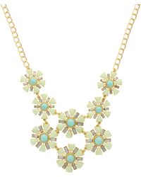 Sparkling Sage - Two Layer Flower Stone Necklace - Compare At $117 - Lyst