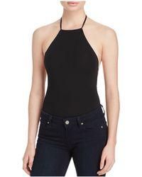 American Apparel - High Neck Halter Bodysuit - Lyst