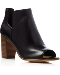 Steven by Steve Madden Nello Open Toe Booties - Compare At $129.95 - Black