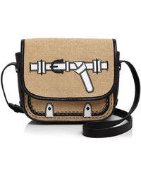 Etienne Aigner Filly Trompe Saddle Bag - Natural