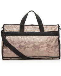 LeSportsac Candace Camo Print Duffel Bag - Black