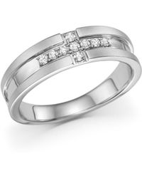 Bloomingdale's - Men's Diamond Band Ring In 14k White Gold, .20 Ct. T.w. - Lyst