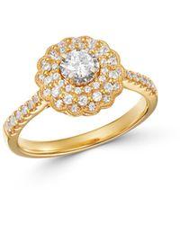 Bloomingdale's - Diamond Milgrain Engagement Ring In 14k Yellow Gold - Lyst