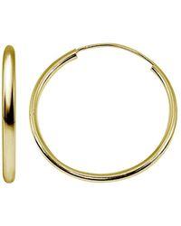 Aqua Small Hoop Earrings In 18k Gold - Plated Sterling Silver Or Sterling Silver - Metallic