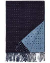 Bloomingdale's Dotted Reversible Scarf - Blue