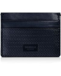 Shinola Embossed Card Case - Blue
