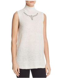 French Connection - Mathilde Embellished Split-back Sweater Vest - Lyst