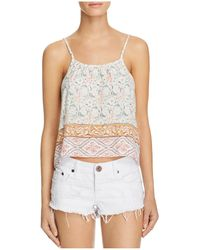 Faithfull The Brand Tiki Pattern Block Top - Multicolour