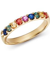 Bloomingdale's Multicolored Sapphire Ring In 14k Yellow Gold - Metallic