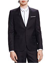 The Kooples Silver Slim Fit Sport Coat - Black