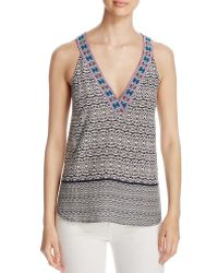 Oober Swank - Embroidered Tank - Compare At $68 - Lyst