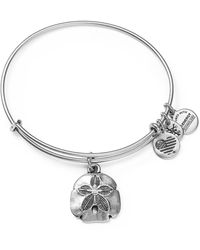ALEX AND ANI - Sand Dollar Ii Expandable Wire Bangle - Lyst