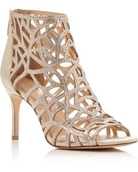 Imagine Vince Camuto - Parker Embellished Caged Booties - Lyst