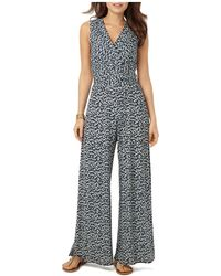 Phase Eight Bette Printed Jumpsuit - Blue