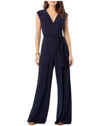 Phase Eight Penn Belted Jersey Jumpsuit - Blue