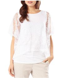 Phase Eight Cecily Sheer Overlay Top - White