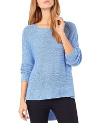 Phase Eight Tazia High/low Sweater - Blue