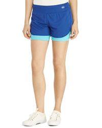 Pink Pony - Lauren Active Layered Pique Compression Shorts - Lyst