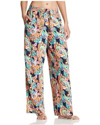 Tommy Bahama - Printed Wide Leg Trousers - Lyst