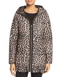 Kate Spade - Reversible Leopard-printed Puffer Coat - Lyst