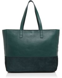 Facine - Suede Carryall Tote - Lyst