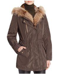 Basler Fur Trim Hooded Parka - 100% Bloomingdale's Exclusive - Brown