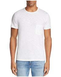 7 For All Mankind - Heathered Pocket Tee - Lyst
