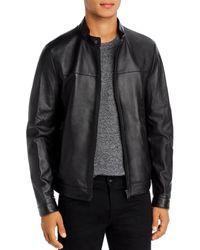 BOSS by Hugo Boss Nardi Leather Jacket - Black