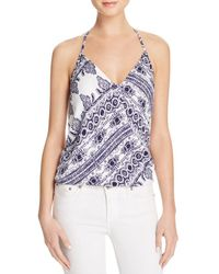 Olivaceous - Bandana Print Crossover Halter Top - Lyst