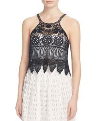 Jealous Tomato - Sleeveless Crochet Crop Top - Compare At $49 - Lyst