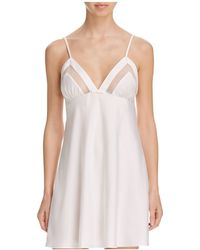Kate Spade Dot Mesh Trim Chemise - White