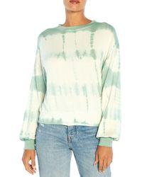 Three Dots Tie Dyed Terry Sweatshirt - Green