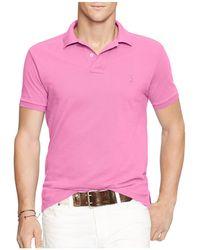 Polo Ralph Lauren | Slim Fit Mesh Polo Shirt | Lyst