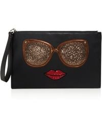 Carlos By Carlos Santana - Eyes Have It Graphic Glitter Clutch - Compare At $39 - Lyst