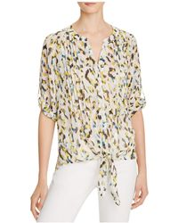 Chaus - Pleated Waist Tie Top - Compare At $69 - Lyst
