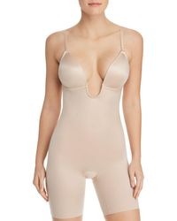 Spanx - Suit Your Fancy Plunge Low-back Mid-thigh Bodysuit - Lyst