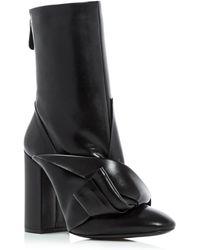 N°21 Knot Embellished High Heel Boots - Black